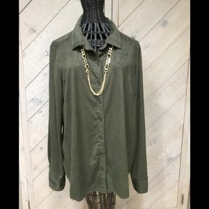 EUC ZAC & RACHEL LONG SLEEVE BUTTON DOWN TOP SZ XL